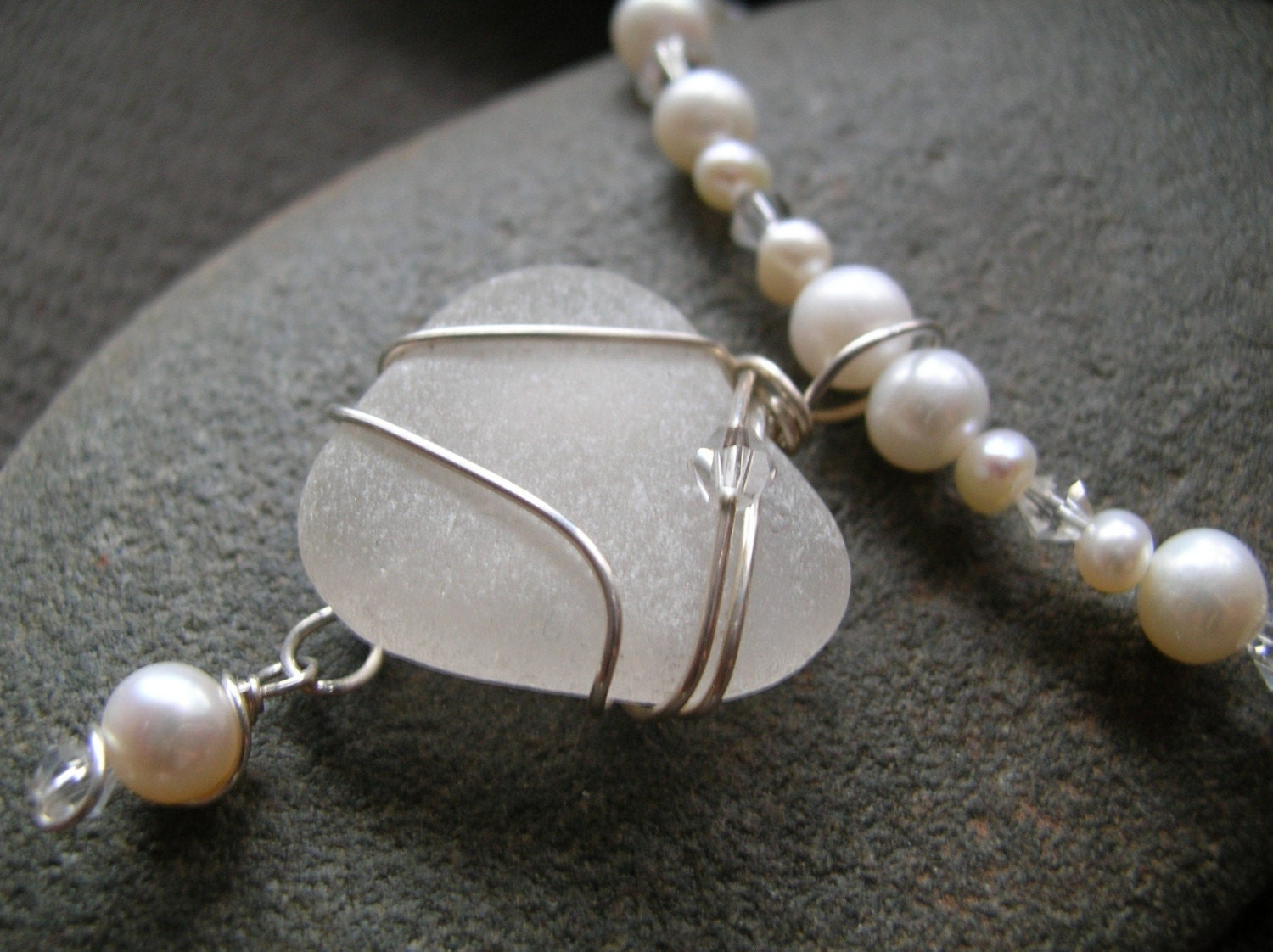 Custom Sea Glass Wedding Jewelry