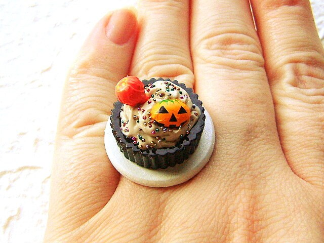Halloween Food Ring Kawaii  Chocolate  Candy by SouZouCreations