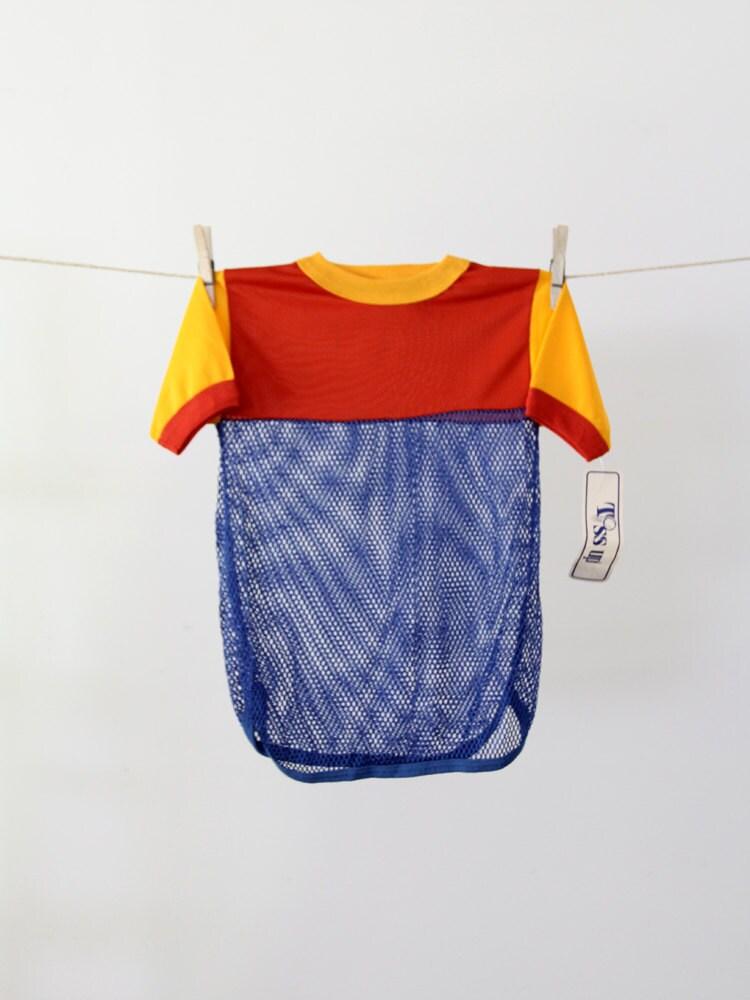 1970s kids mesh jersey / vintage sports tshirt / new old stock - littleyolk