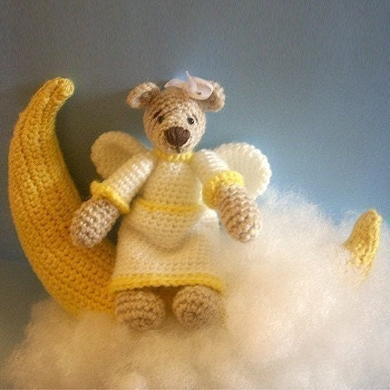 PDF Crochet Pattern - Angel Bear