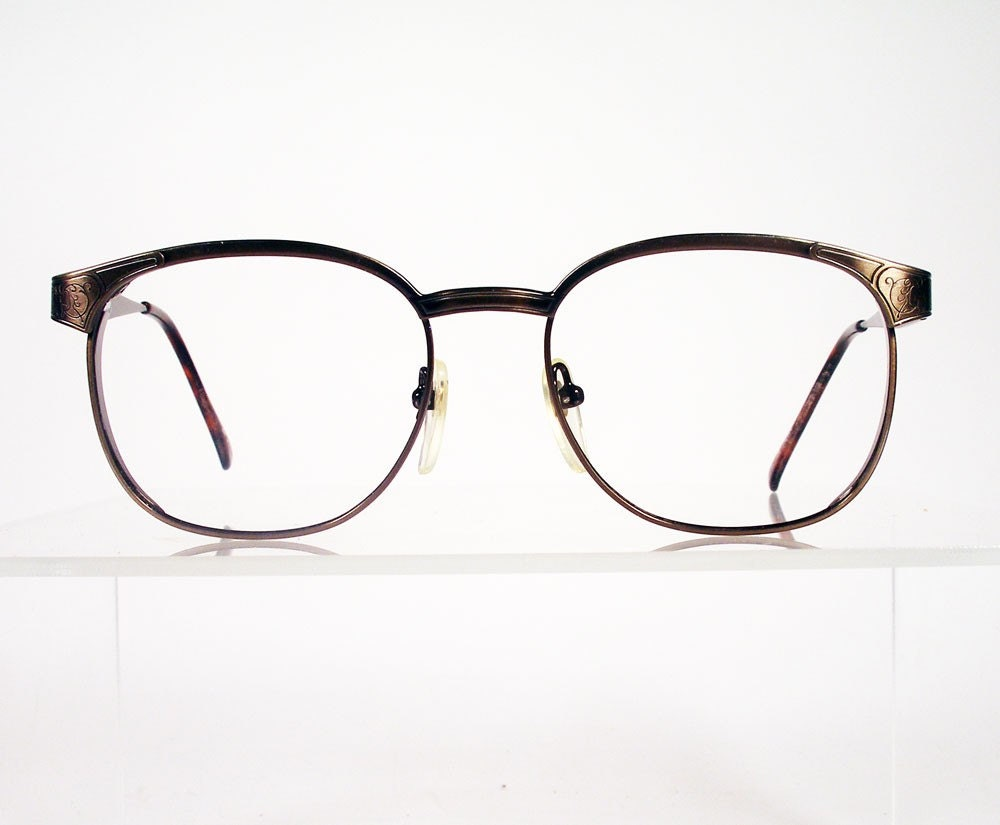 Vintage BEAU MONDE Newcastle Bronze Metal Eyeglass by Chigal