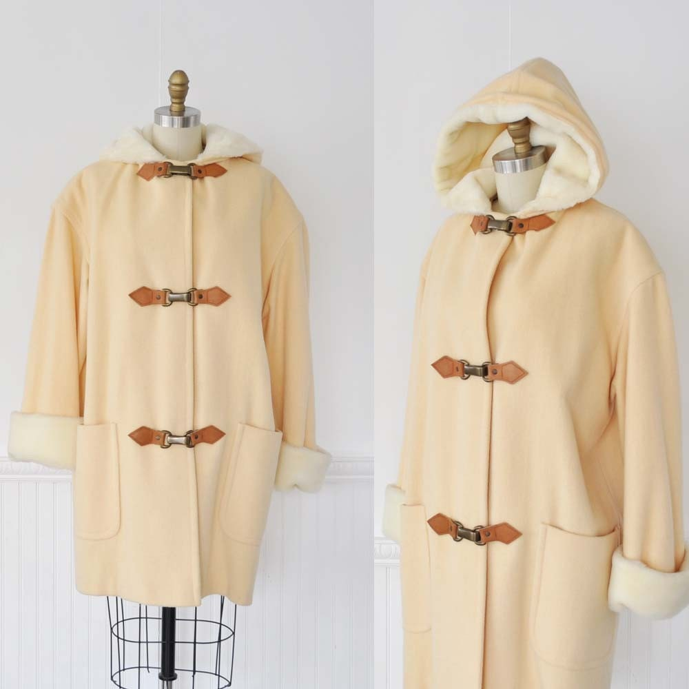 Vintage Leather BUCKLE Duffle Coat by MariesVintage on Etsy