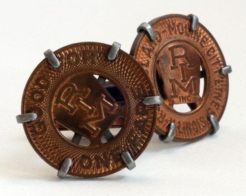 Rock Island-Moline Bus Token Cufflinks