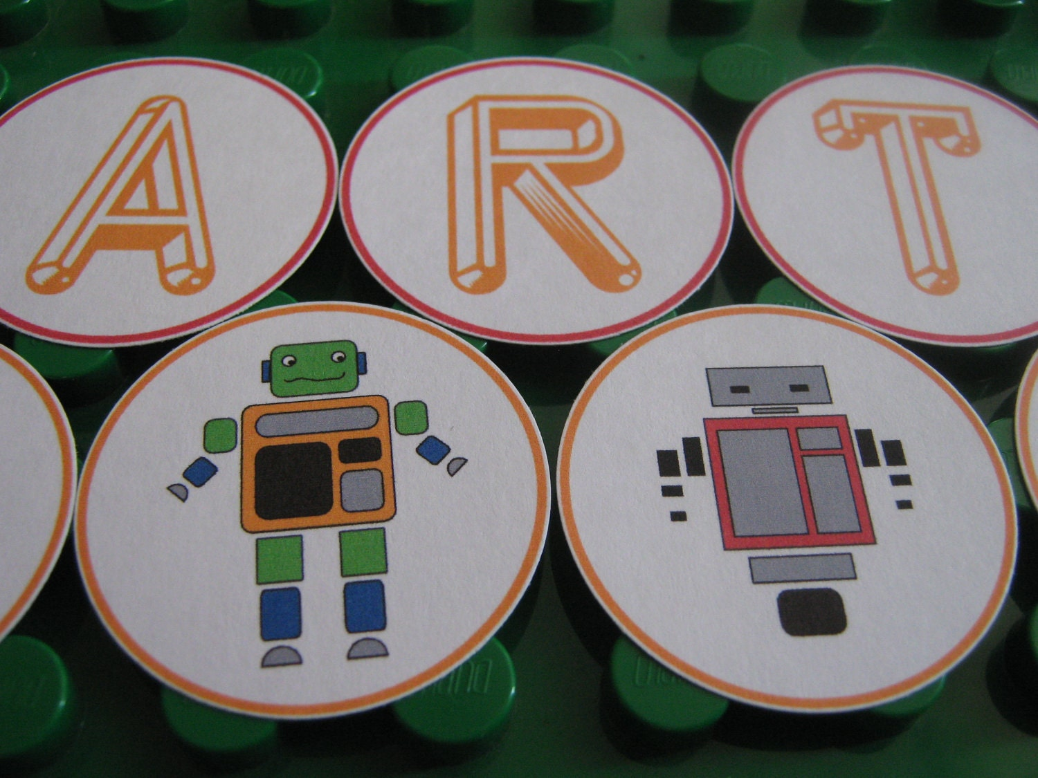 Robot Party Cupcake Topper or Straw Decoration - Print Your Own - Matching Party Supplies