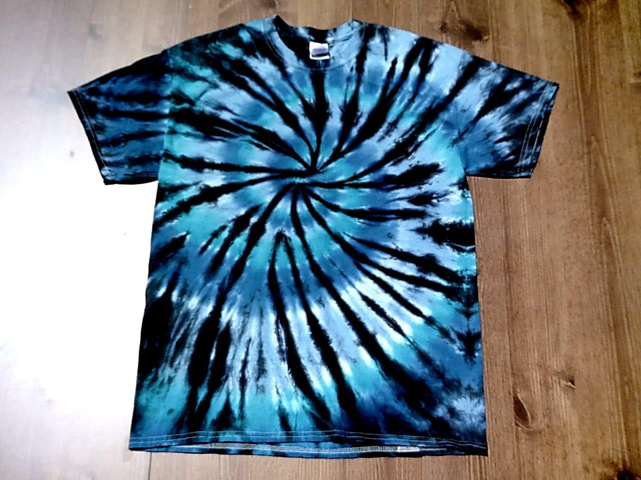 Custom tie dye tshirts unisex shades of blue by for Custom tie dye t shirts