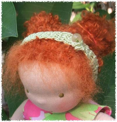 Tinke  Waldorf inspired Fairywooldolls cloth doll