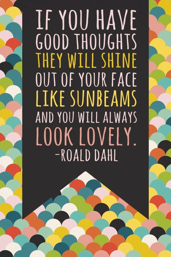 24x36 Roald Dahl Print (actual poster)