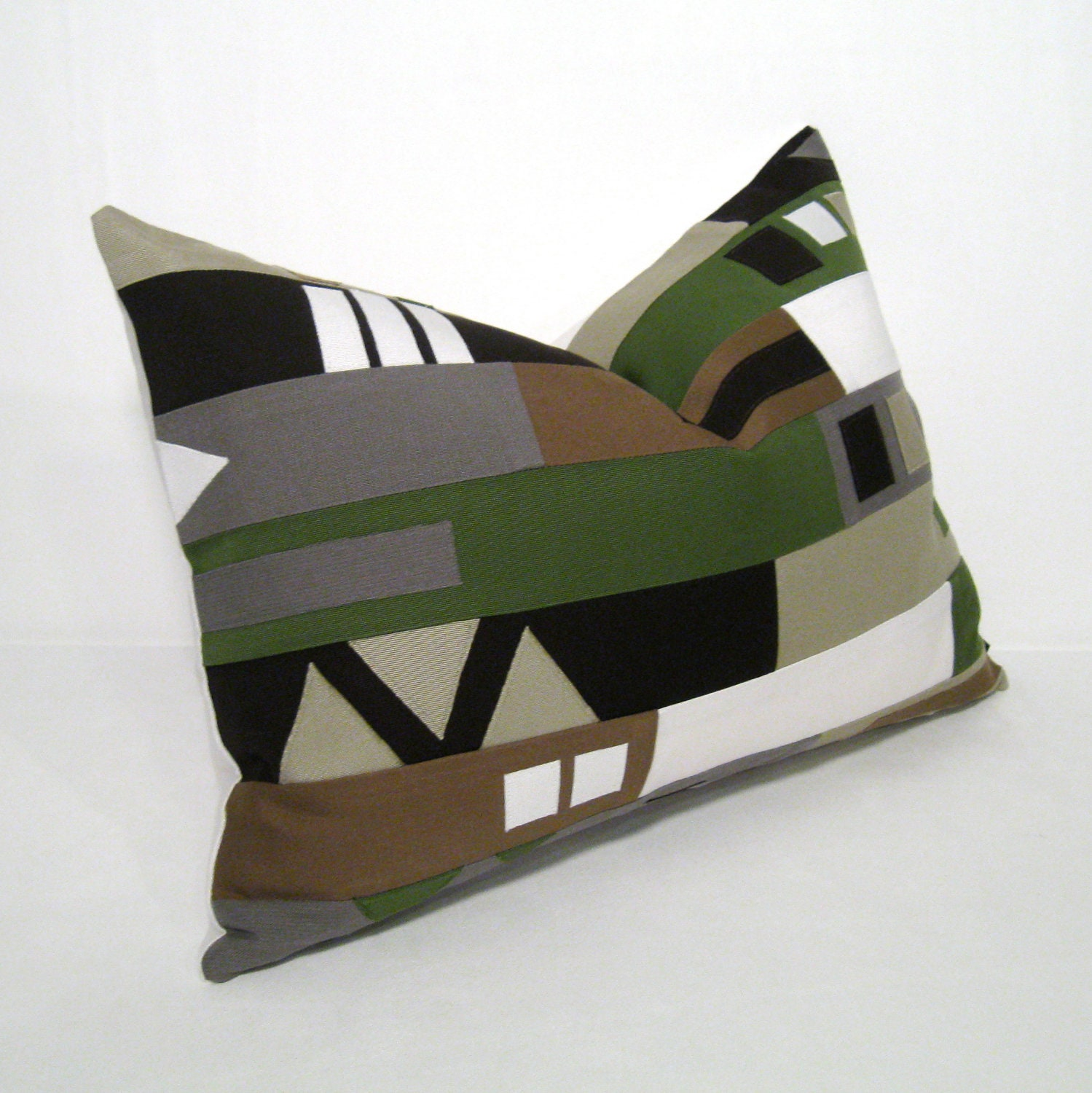 Decorative Pillow Green Outdoor Cushion Modern by Mazizmuse