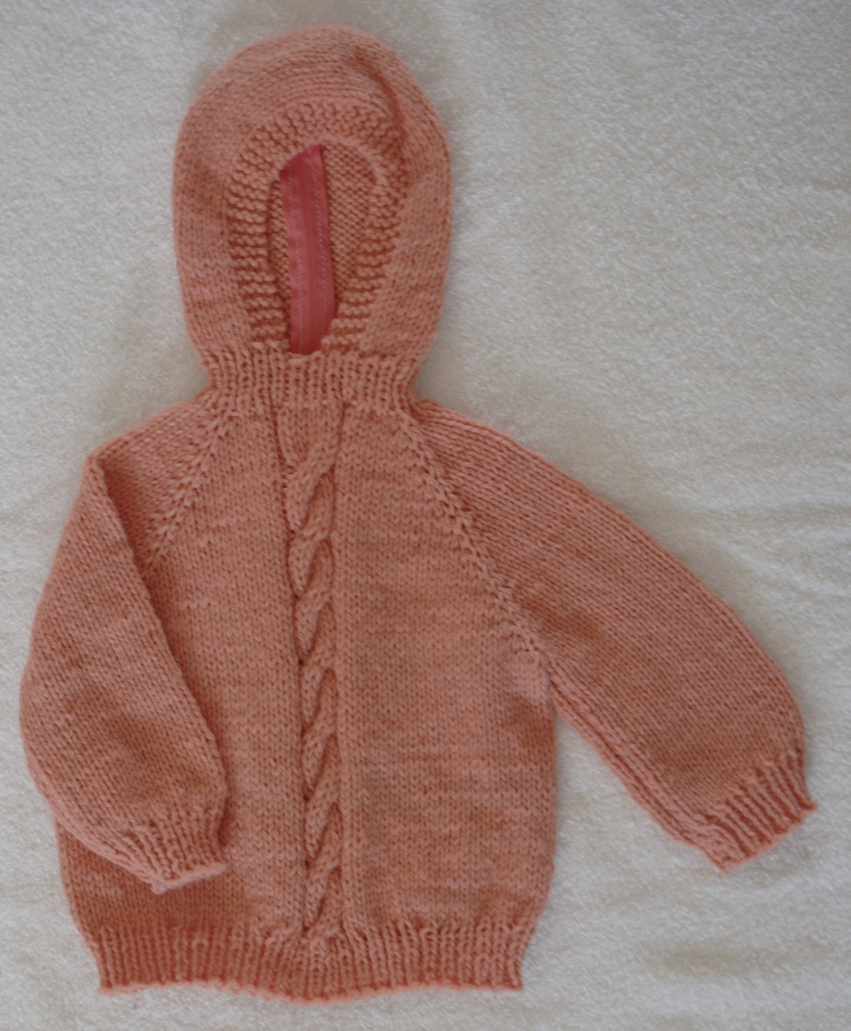 Knitting Pattern For Zip Up Back Baby Sweater : Knitted Hooded Baby Sweater with Back Zipper 12 by ...