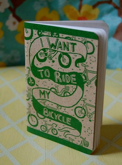 Mini Bicycle Notebook