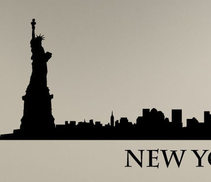 NEW YORK City SKYLINE Wall Vinyl Decal Art By InspirationsByAmelia
