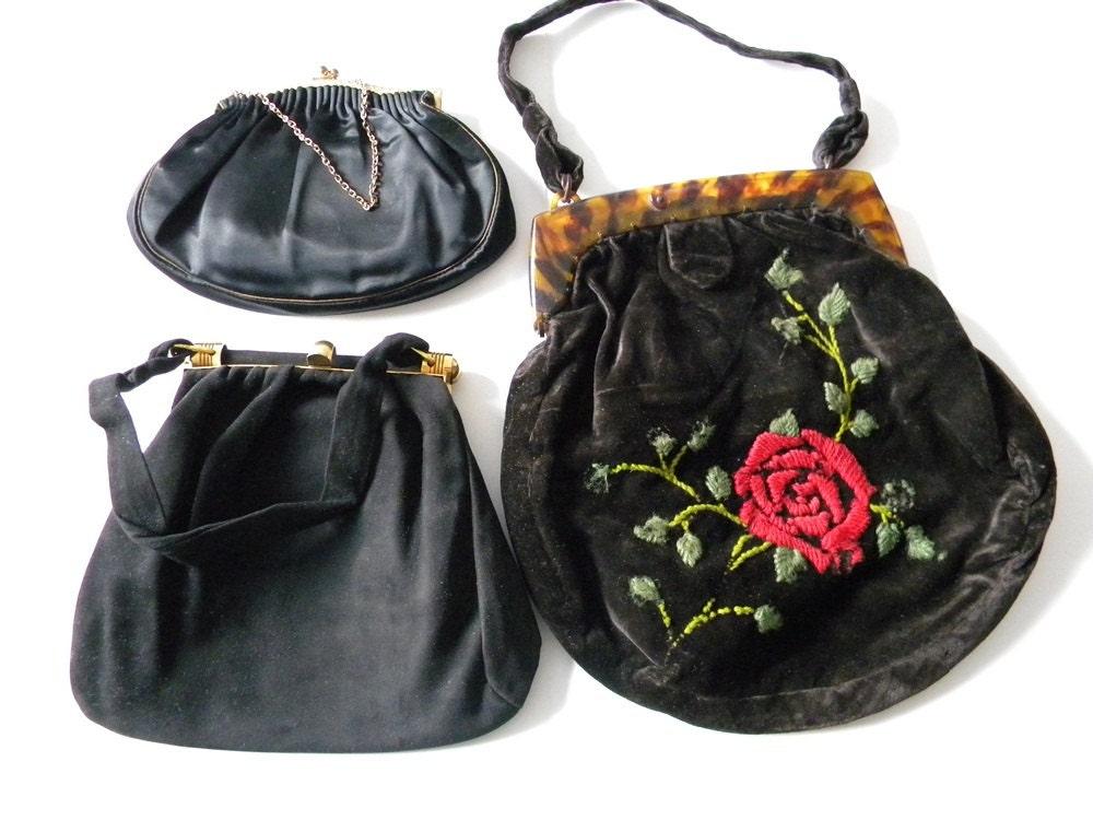 vintage clutches lot 3 bags