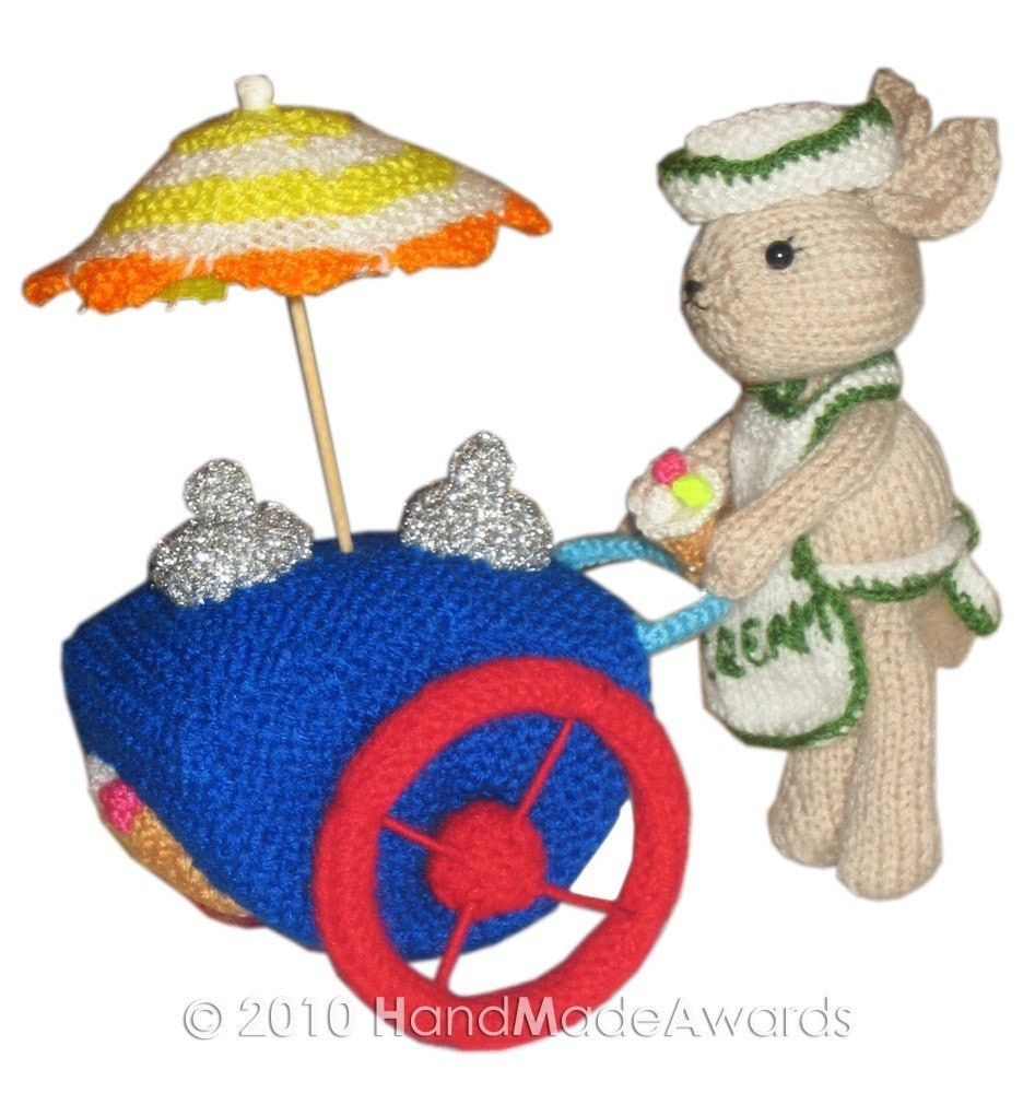 Bunny's Ice-Cream Car PDF Email KNIT PATTERN