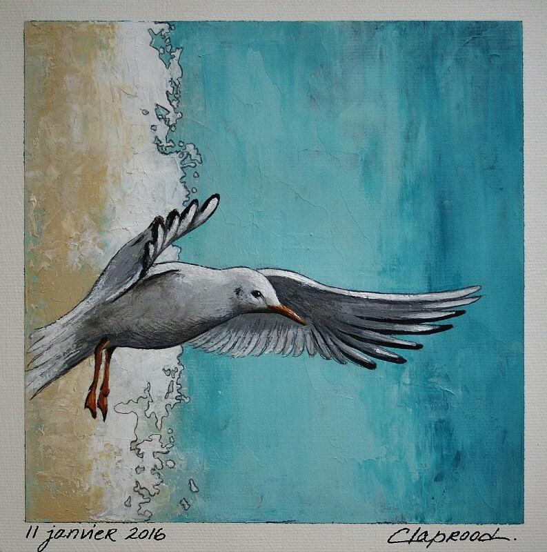 Amazoncom So Crazy Art Wall Art Painting Birds Pelican