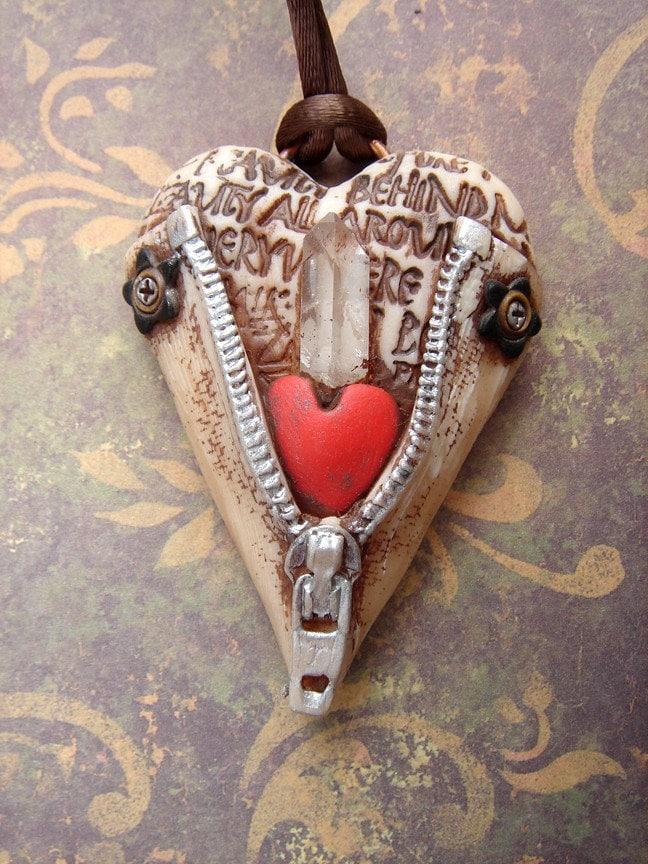 Unzipped heart 8