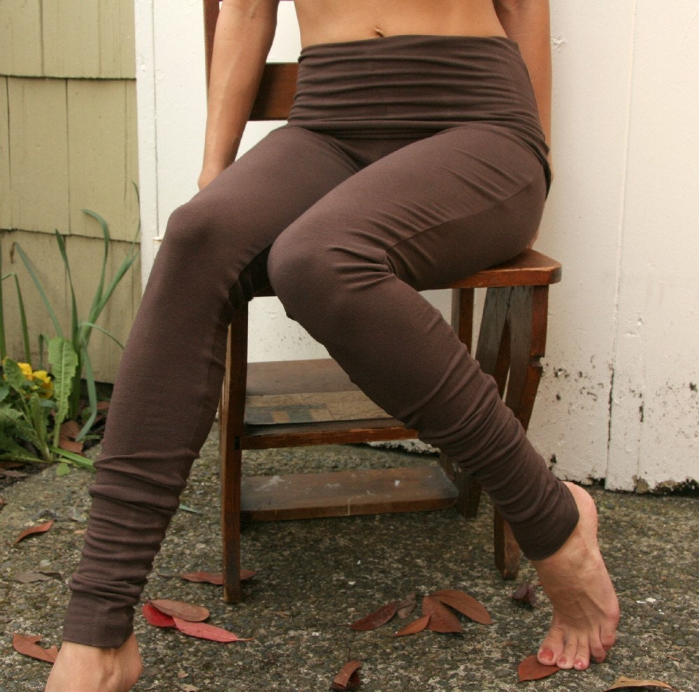 sandmaiden soy and organic cotton jersey legging with fold over skirt - made to order