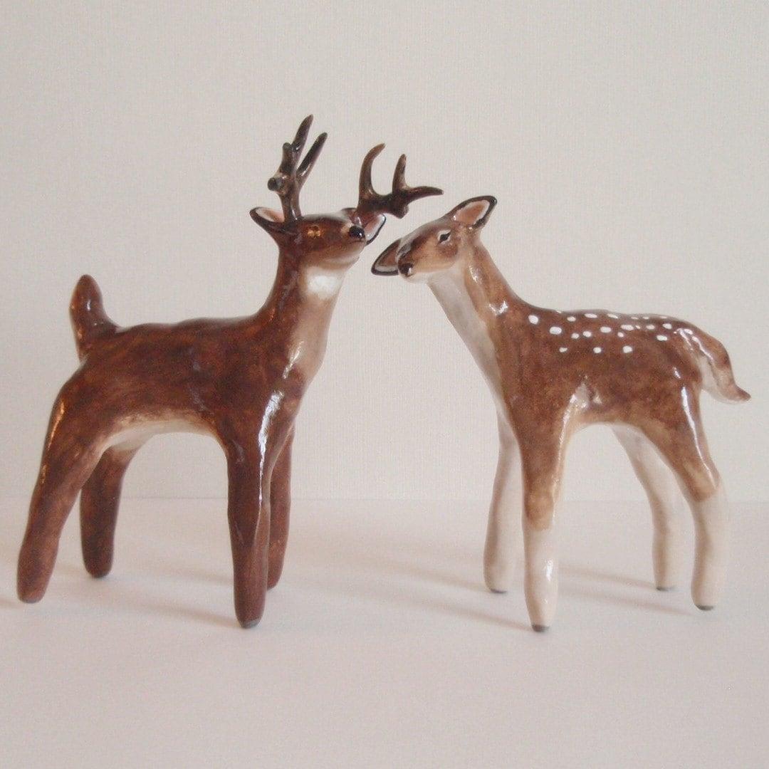 deer figurines/wedding cake toppers
