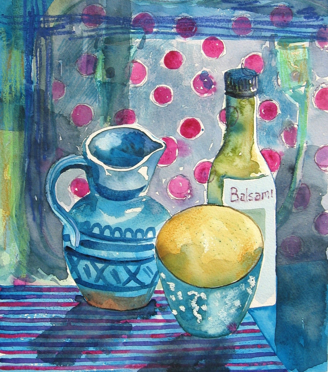 Little blue Jug - Original Watercolour