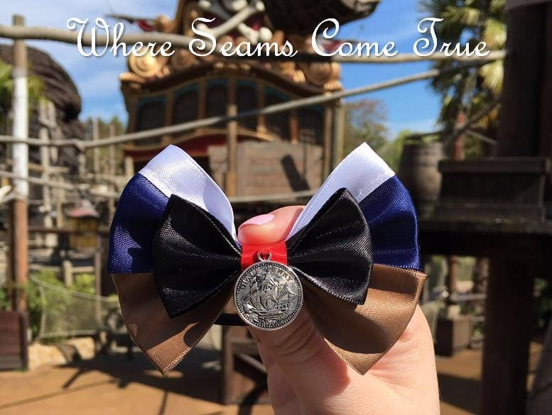 Pirates of the Caribbean Jack Sparrow Inspired Hair Bow