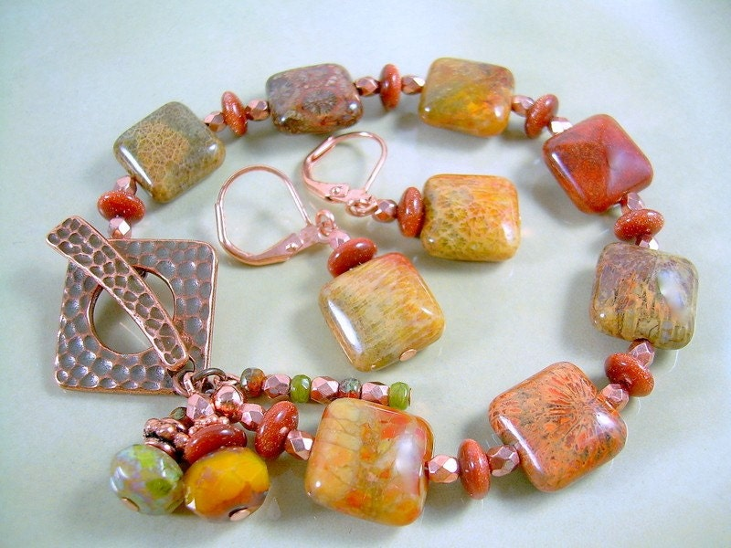 Bounty - Jasper and Copper Bracelet