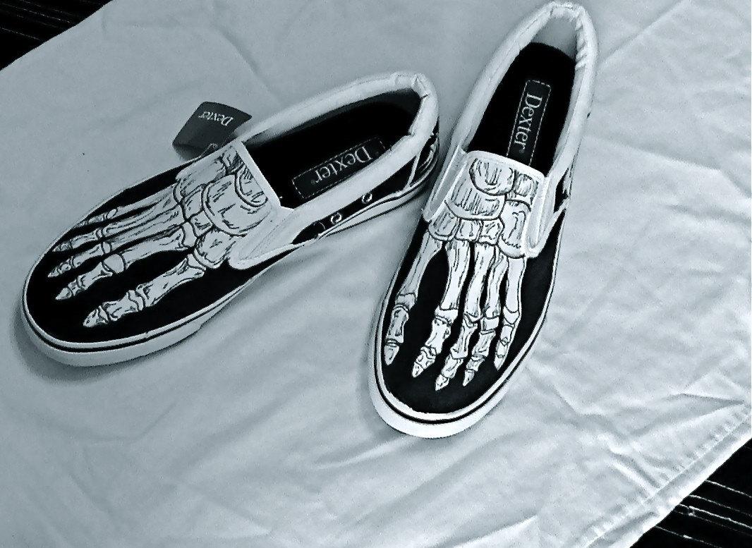Skeletal shoes by SquarePeg via Etsy