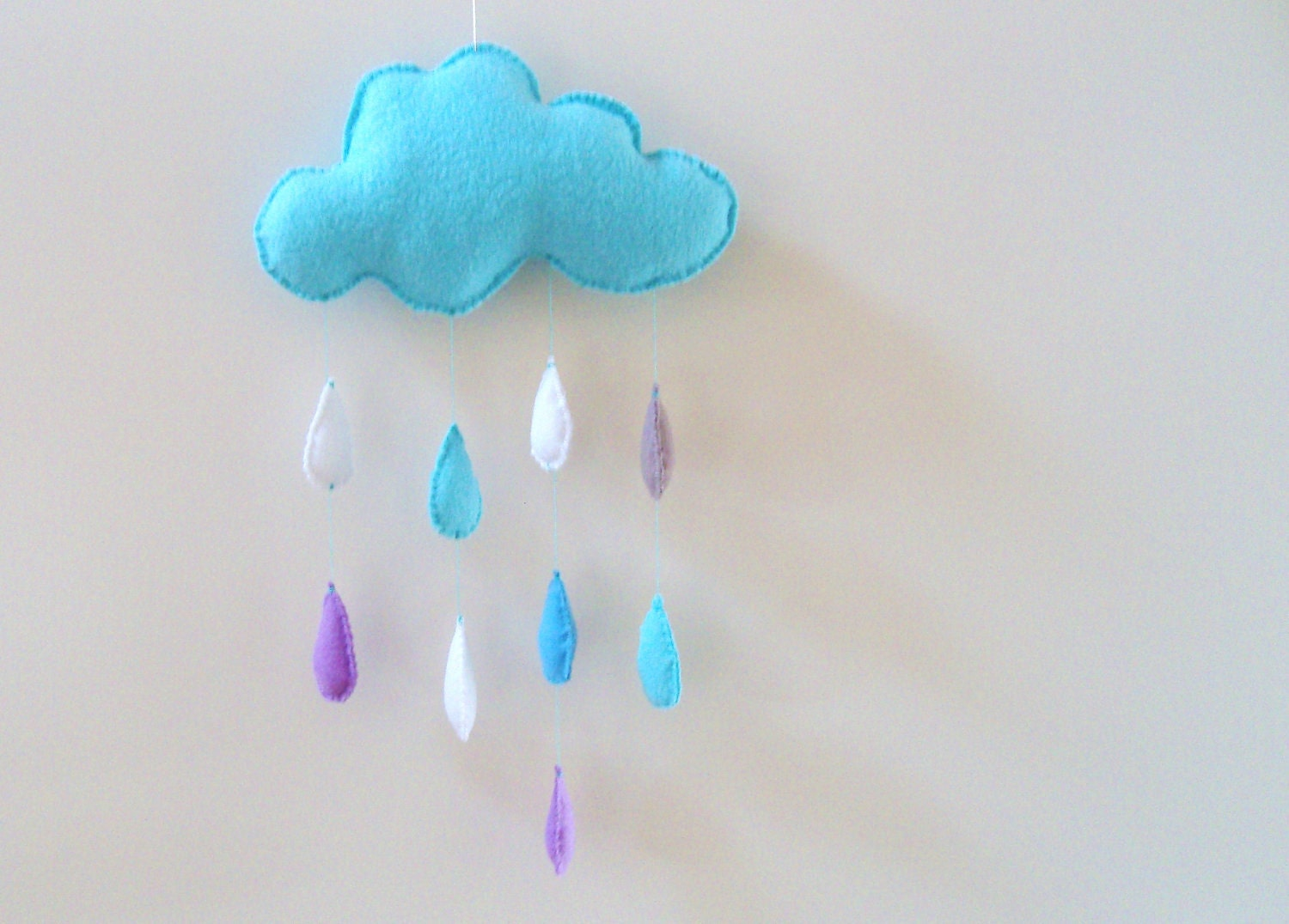 SALE 20% Colorfull cloud with raindrops, nursery decoration, mobile