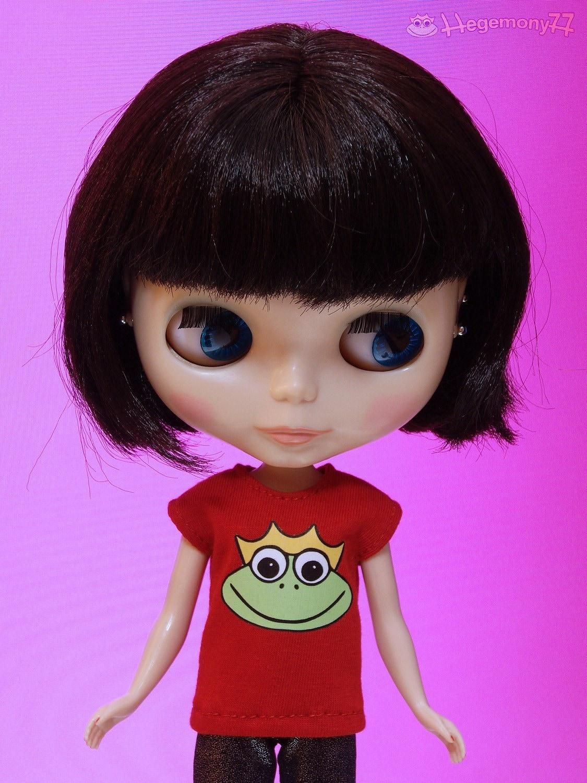 Frog shirt for Blythe Pullip Barbie Momoko J-doll 27 cm Obitsu size dolls