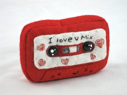 Plush I love you mix Cassette Tape