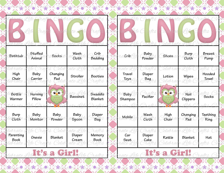 Baby Gift Bingo : Baby shower bingo cards diy printable by