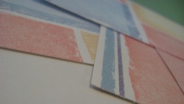PIF sunset colors mini paper pack 4x6 orange blue desert tones for cards scrapbooking