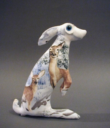 Baby Hare  Agnethka Soft Sculpture