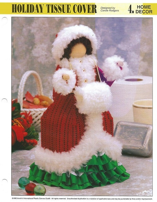 Plastic canvas pattern holiday tissue cover by luvinthecrafts