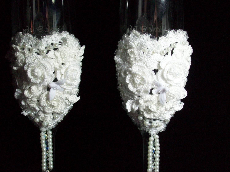 Wedding Toasting Champagne Flutes - TyingKnots