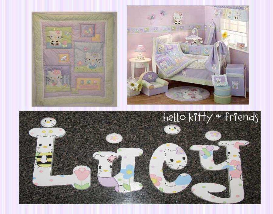 Hello Kitty Princess Custom Hand Painted Wall Letters