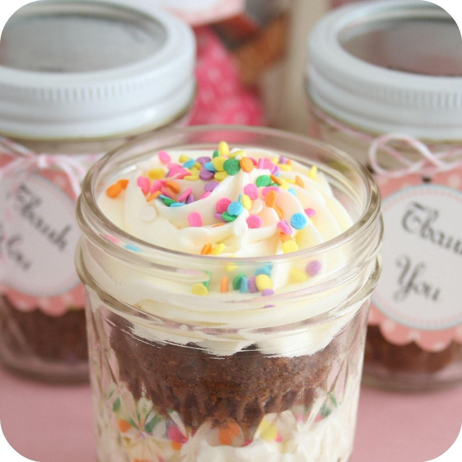 Cupcakes in a jar -   great sweet treat- Single serving