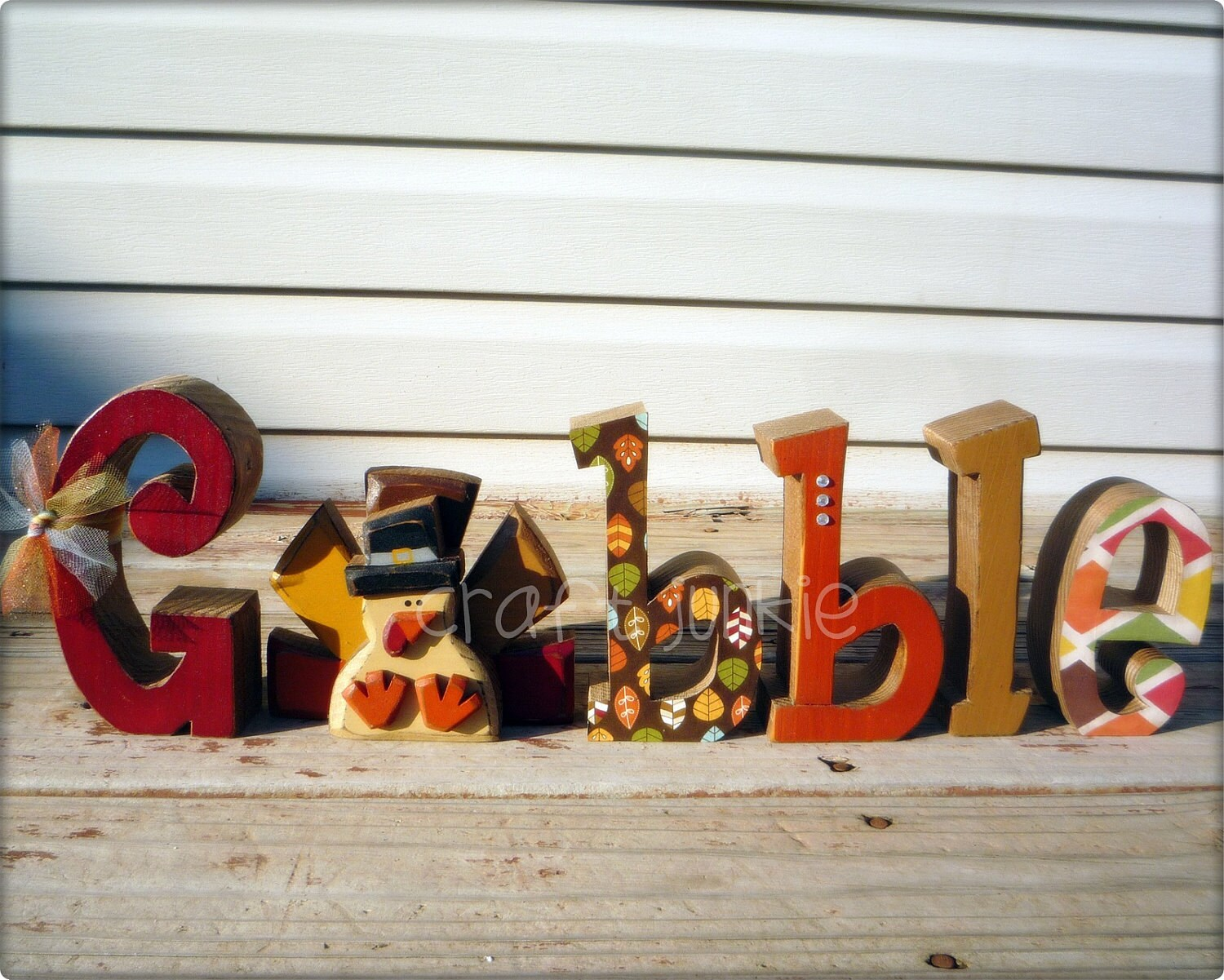 Thanksgiving Turkey Gobble letter set
