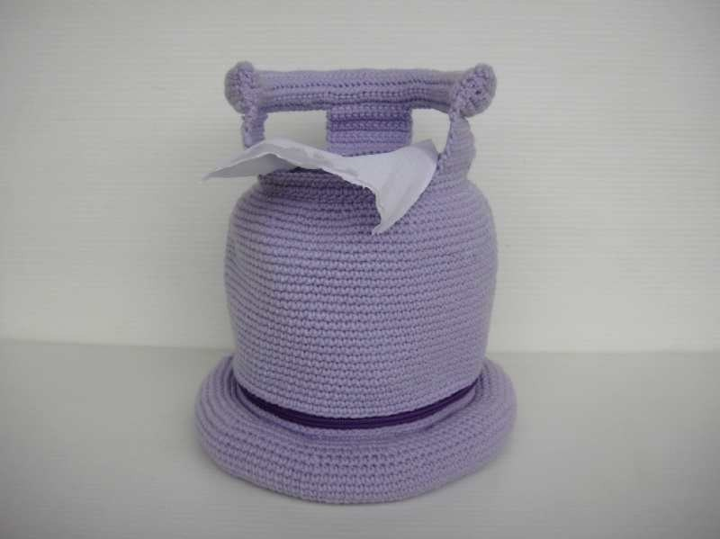 Crochet Patttern - GAS CYLINDER - Tissue Roll Holder - PDF