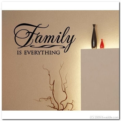 family is everything vinyl wall lettering words by itwaddle. Black Bedroom Furniture Sets. Home Design Ideas