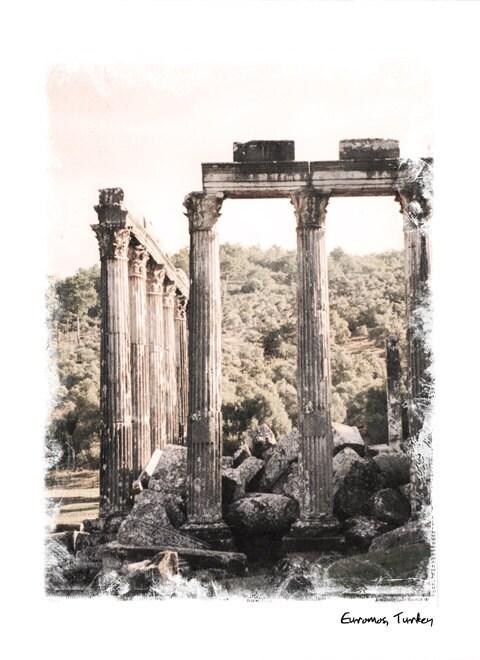 Турция Коллекция № 3-Турция стока - художественной фотографией - Стена Декор-храм - Археология - Средиземное море Фото
