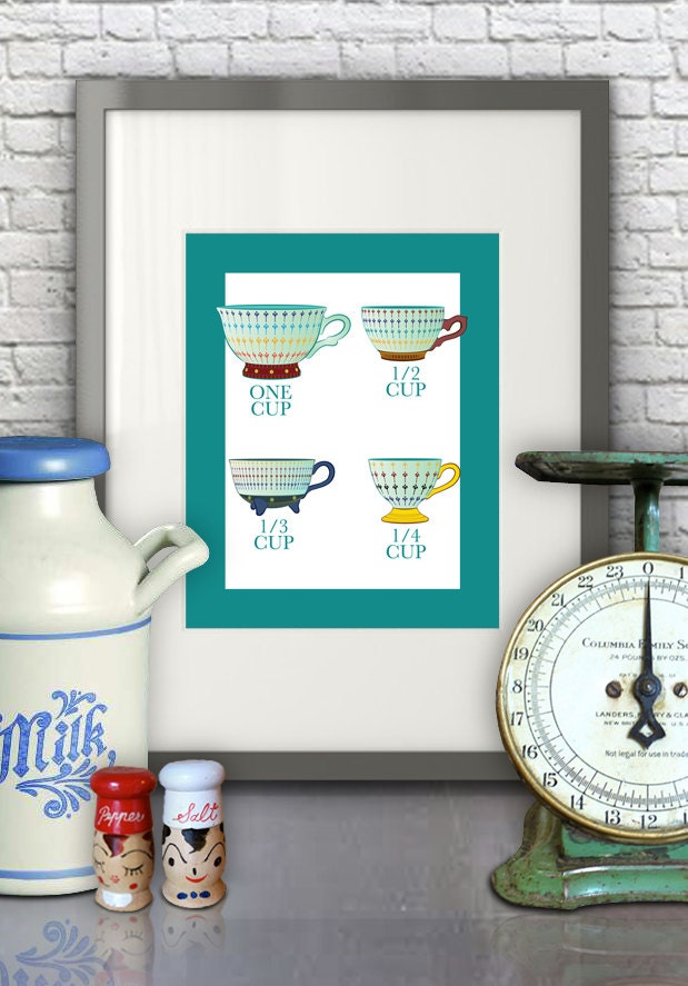 Items similar to measuring cups 8x10 print kitchen art for 8x10 kitchen designs