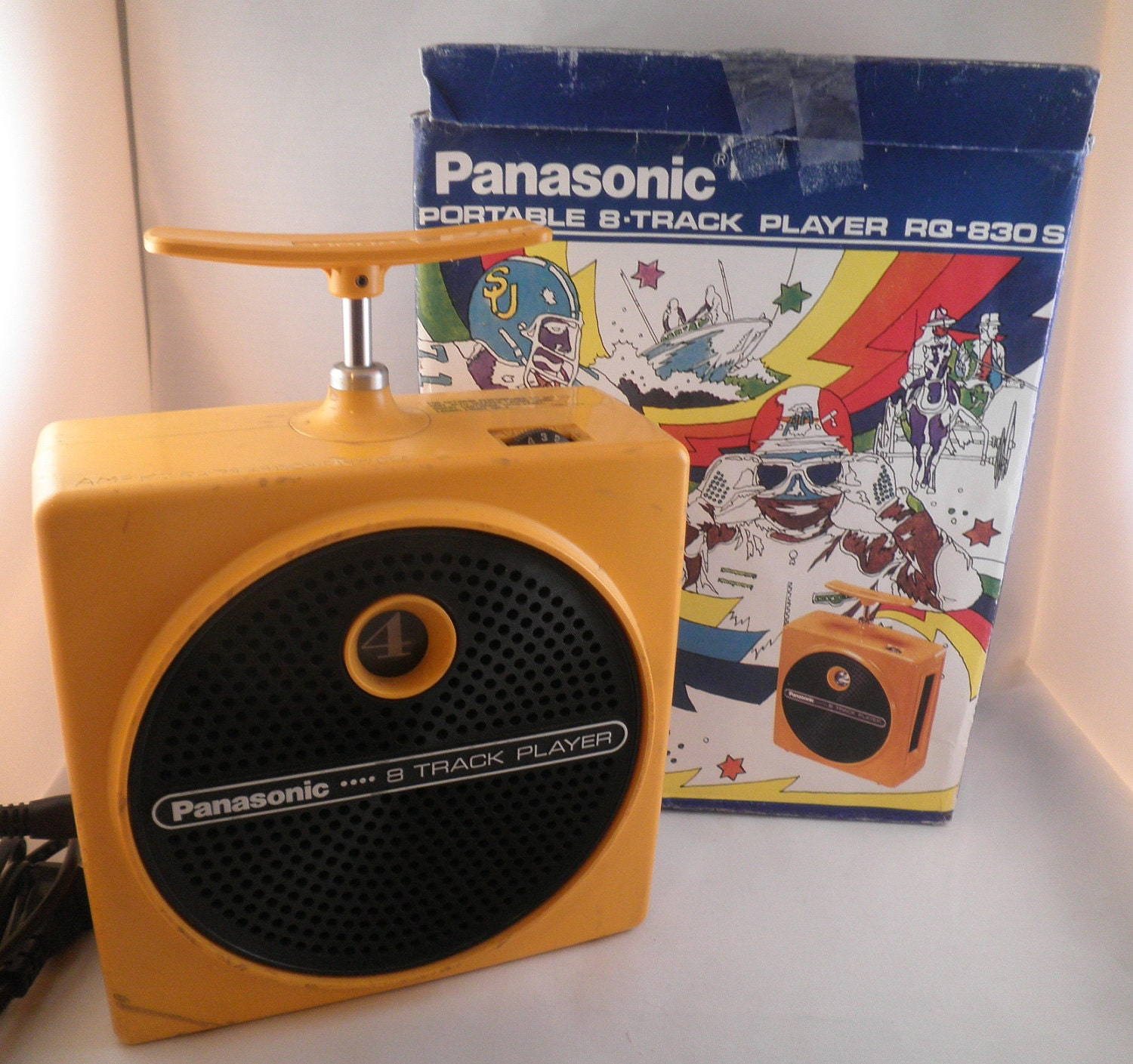 Yellow Panasonic TNT 8-track player
