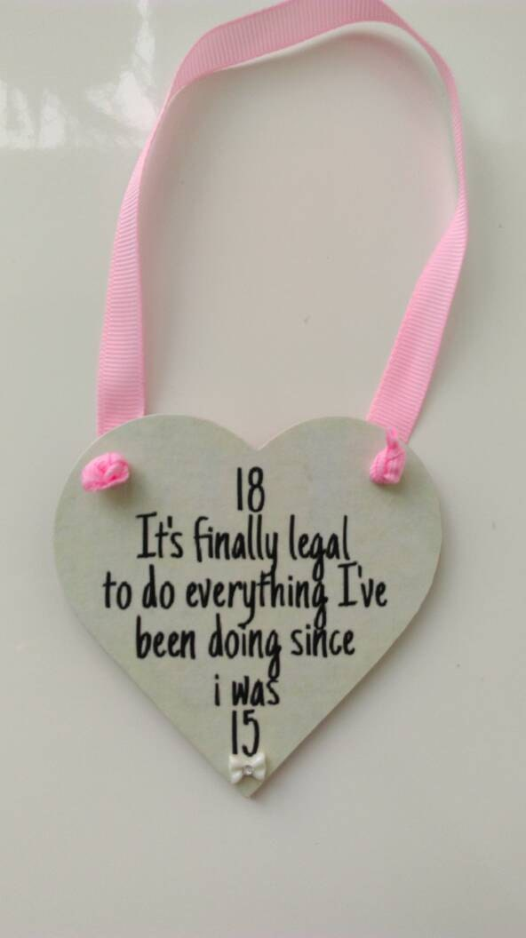 18th birthday gift 18th birthday present gift for her keepsake gift hanging heart wall plaque home decor bedroom decor. Girls room