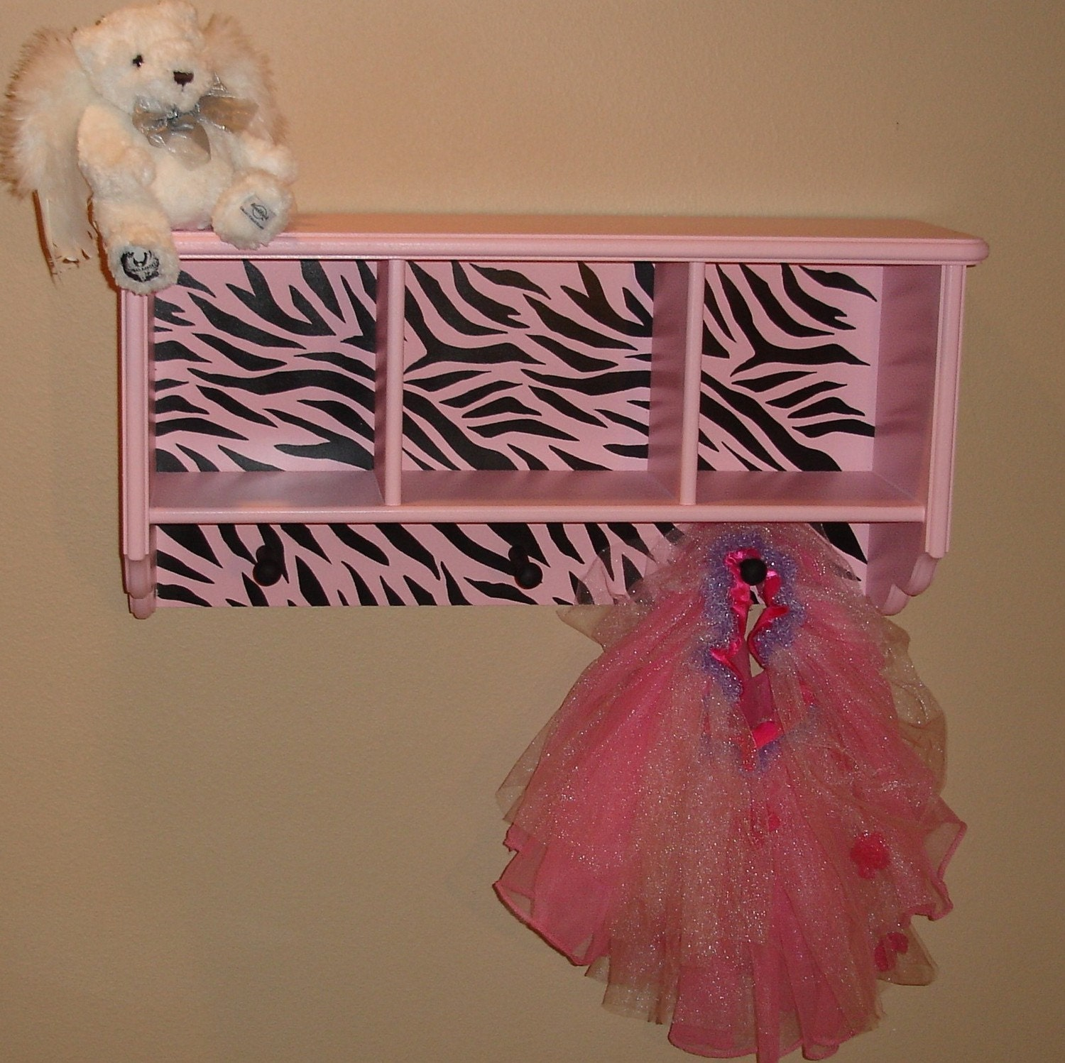 Zebra Striped Wall Shelf