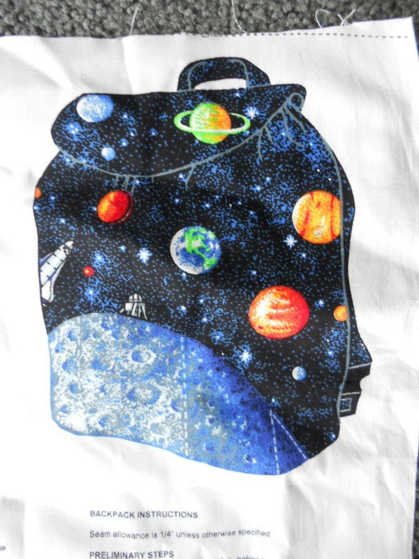 Outer space backpack panel by sayitisntsew on etsy for Outer space fabric panel