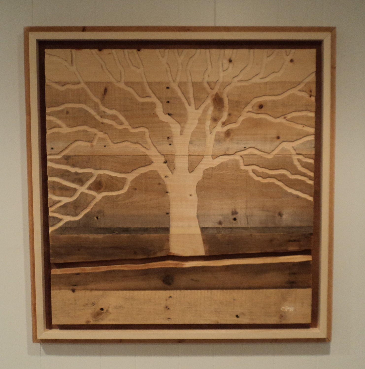 Items similar to indoor outdoor rustic pallet wood wall for Rustic wood wall art