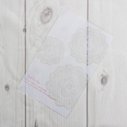 White doily transparent opp Envelope - 20sheets, 120 x 190mm