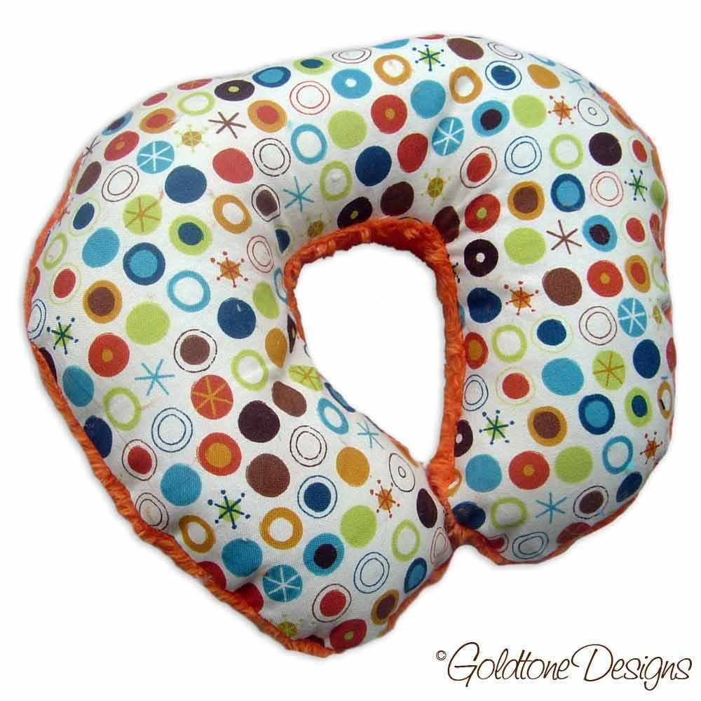 Baby Boy Minky Travel Support Pillow for Car Seat - Team EtsyBABY Halloween Challenge