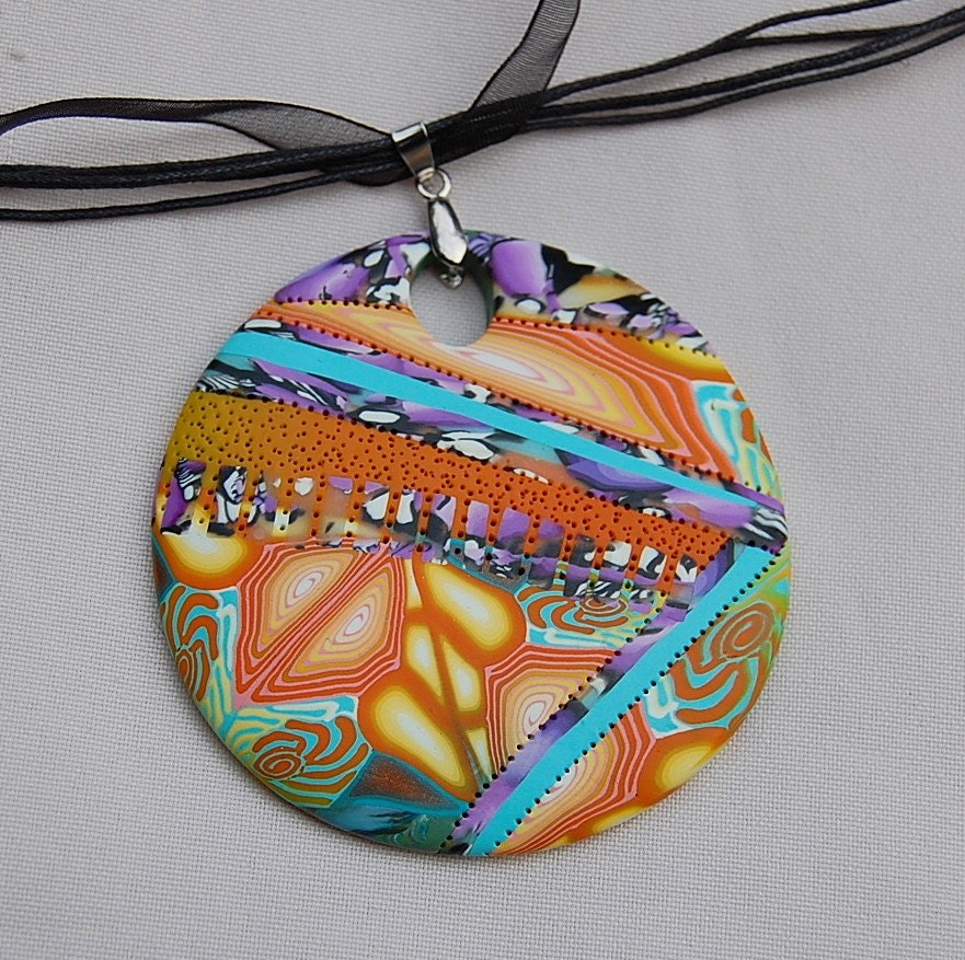 NeW CollectioN - Handmade Polymer clay pendant