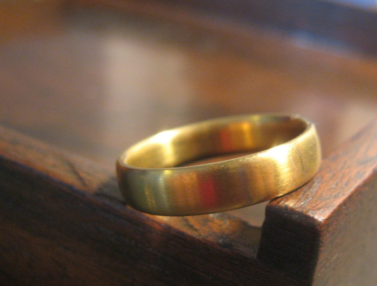 Gold COLORED Titanium Ring