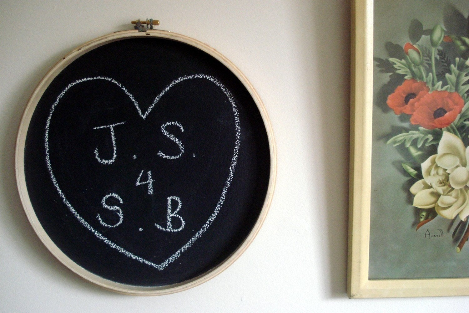 SALE - Small Embroidery Hoop Chalkboard - Plain